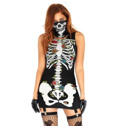 Leg Avenue Costume Robe Squelette