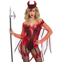 Leg Avenue Costume Body Diable Rouge