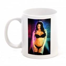 Strip Mug Femme Brune