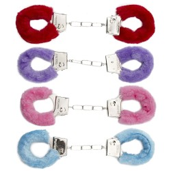 Colored Faux Fur Handcuffs