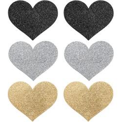 Flash Heart Glitter Pasties