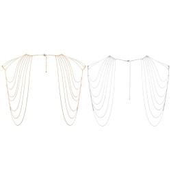 Ornement d'Epaules et Dos en Chainettes Métalliques Magnifique