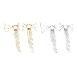 Bracelet de Cheville en Chainettes Métalliques Magnifique