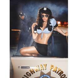 Costume Policière Sexy Highway Patrol 3 Pièces