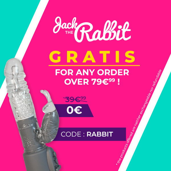 For any order over € 79.99, SexyAvenue offers you the famous Jack The Rabbit Stimulator!