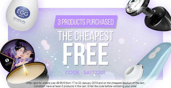 For 3 products in the cart, the cheapest is free!