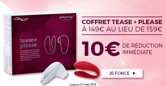Bénéficiez de 10€ de réduction immédiate sur le Coffret Sextoys regroupant Womanizer & We-Vibe exclusivement sur SexyAvenue !