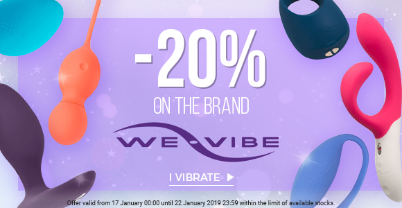 Get 20% off the entire We Vibe brand!